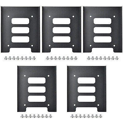 TRIXES Pack Of 5 Metal Internal Mounting Kits For 2.5 Inch SSD And 3.5 Inch HDD • 8.99£