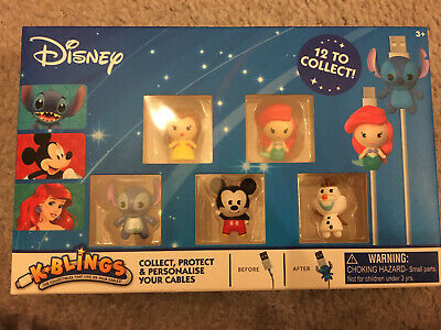 Disney K Blings. Set Of 5. Brand New And Sealed. Personalise Your Cables. • 5.99£