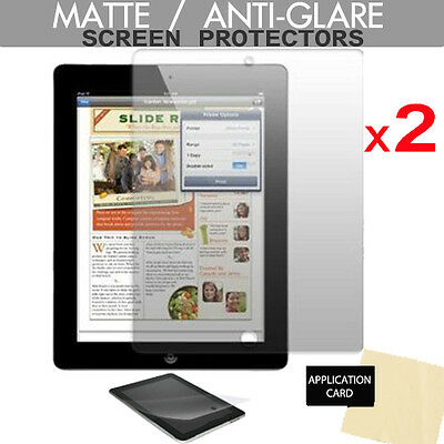 2 Pack Of ANTI-GLARE MATTE Screen Protector Guards For Apple IPad 4 3 2 Gen • 2.79£