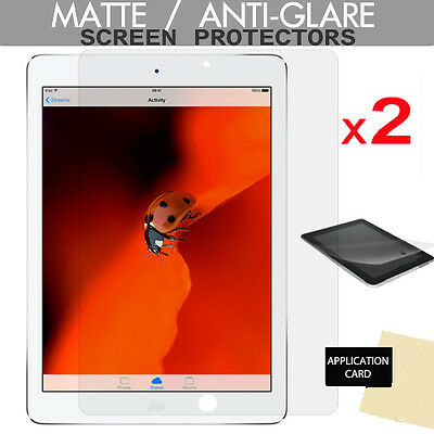 2 X ANTI GLARE MATTE LCD Screen Protectors For Apple IPad Air & IPad Air 2 • 2.79£