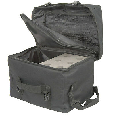6 Microphone,Equipment & Cable/Leads Transit Carry Bag - Flight Case For Mic • 34.99£