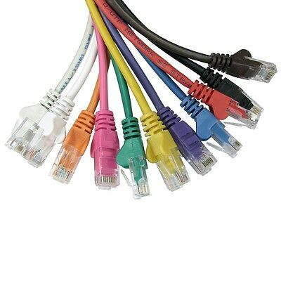 Ethernet Network Cable Cat5e RJ45 Internet Patch Lead Wholesale 0.25m To 50m • 4.99£
