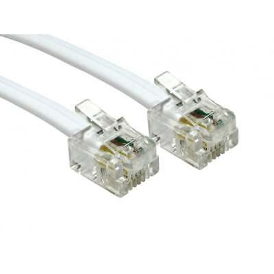 10m RJ11 To RJ11 Cable ADSL Broadband Router Lead WHITE • 3.99£