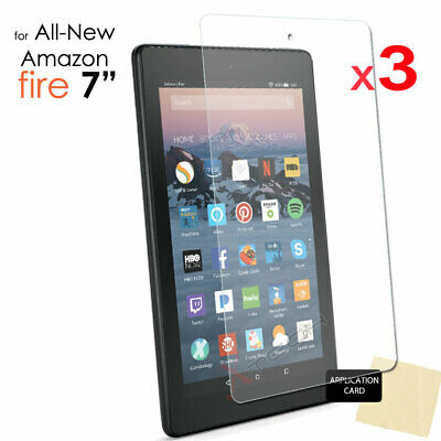 3x Screen Protector Cover For Amazon Fire 7  9th / 7th Generation 2019 / 2017 • 2.95£