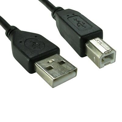 1m USB 2.0 High Speed Cable Printer Lead A To B Black Shielded Epson Kodak HP • 1.89£