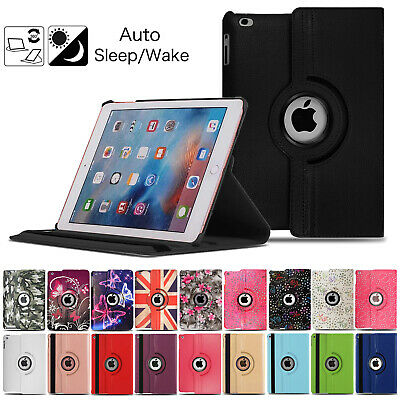 Leather 360 Rotating Smart Case Cover For Apple IPad Air Pro Mini 9.7 10.2 2020 • 5.95£