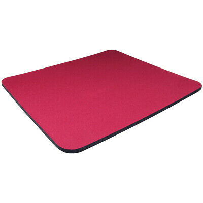 Red Fabric Mouse Mat Pad High Quality 5mm Thick Non Slip Foam 25cm X 22cm • 1.99£