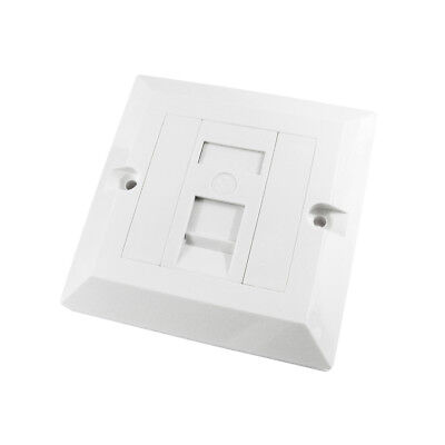 RJ45 Faceplate Wall Socket Cat5e Ethernet Single Gang 1 Port With Keystones • 2.99£