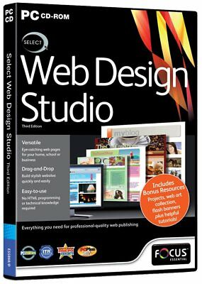 * PC NEW SEALED Software * Select WEB DESIGN STUDIO * 3rd Edition • 2.97£