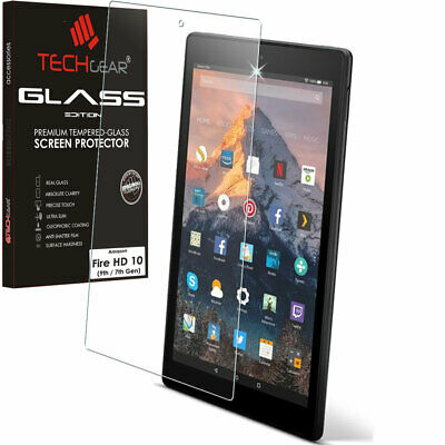 TECHGEAR TEMPERED GLASS Screen Protector For Amazon Fire HD 10 2019 9th / 2017 • 6.95£