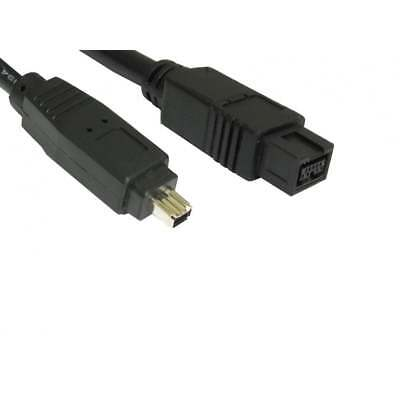 2m Firewire 800 To 400 9 Pin To 4 Pin Cable IEEE1394B PC Mac DV OUT CAMCORDER • 2.89£