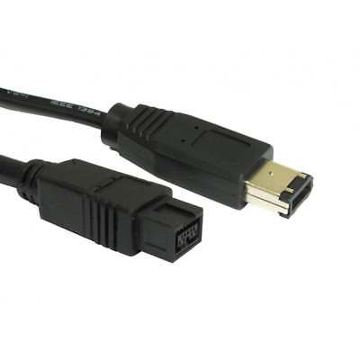 2m Firewire 9pin 800 To 400 To 6 Pin Male Cable IEEE1394B PC Mac CAMCORDER • 3.99£