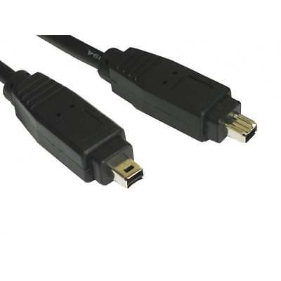 1m Firewire 400 IEEE1394 4 Pin Male To Male Cable Lead PC Mac DV OUT CAMCORDER • 2.39£