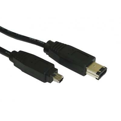 1m Firewire 400 IEEE1394 6 Pin To 4 Pin Male Cable Lead PC Mac DV OUT CAMCORDER • 2.49£