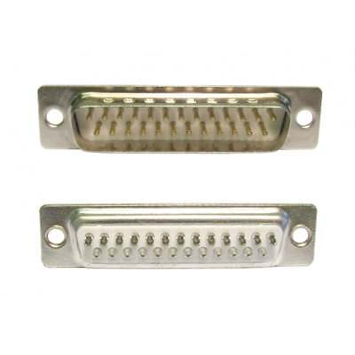 D-SUB DB25 Male Connector Solder Type 25 Pin (2 Rows 13 And 12) Nickel Contacts • 1.39£