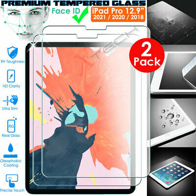 2x Genuine TEMPERED GLASS Screen Protector For Apple IPad Pro 12.9  2020 / 2018 • 8.95£