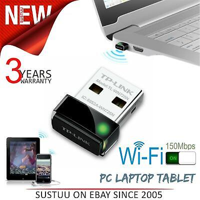 TP-Link WiFi Receiver USB Stick│For Non WiFi PC Laptop Tablet System│TL-WN725N • 7.79£