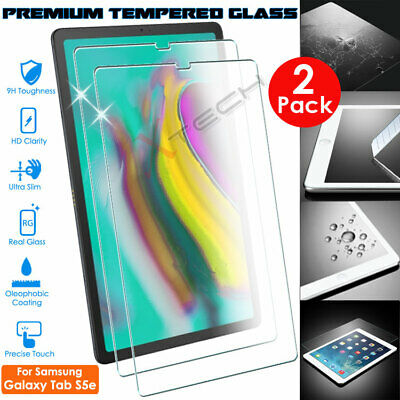 2x Genuine TEMPERED GLASS Screen Protector For Samsung Galaxy Tab S5e 10.5 T720 • 6.95£