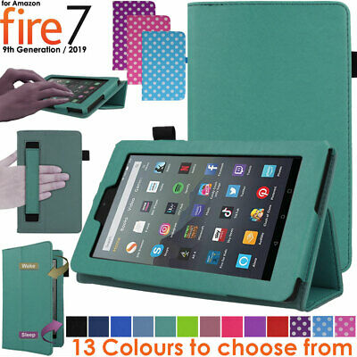 For Amazon Fire 7  2019 9th Generation Leather Flip Smart Case Stand Cover • 6.49£