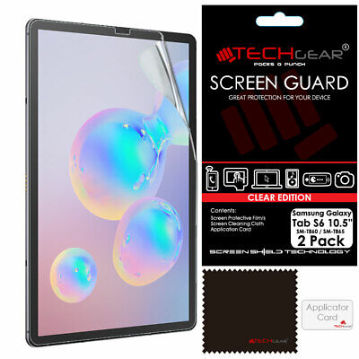 2 Pack TECHGEAR Screen Protector Guards For Samsung Galaxy Tab S6 10.5 T860 T865 • 2.95£