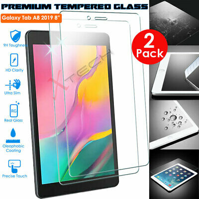 2x TEMPERED GLASS Screen Protector For Samsung Galaxy Tab A 8  2019 SM-T290/T295 • 6.95£