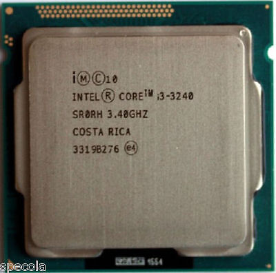 Intel Core I3 3240 - 3.4 GHz Dual-Core SR0RH UNBOXED CPU ONLY Warranty • 6.99£