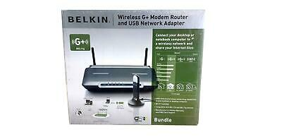 Belkin Wireless G+ Modem Router And USB Network Adapter • 26.99£