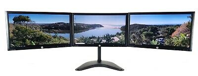 TRIPLE SCREEN MONITOR SETUP + STAND FOR PC HOME OFFICE 3 X 24  FULL HD 1920x1080 • 289.99£