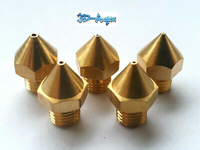 Creality CR-10S Pro Replacement Brass Nozzle Set 0.2, 0.4, 0.6, 0.8 & 1.0mm UK • 24.95£