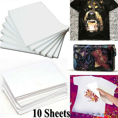 10*A4 Heat Transfer Iron-On Paper For Light & Dark Fabric Cloth T-shirt Painting • 5.55£