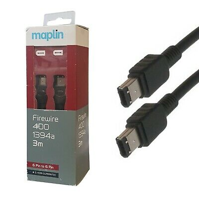 Maplin Firewire 400 1394a 6 Pin To 6 Pin 3 Meters • 7.99£