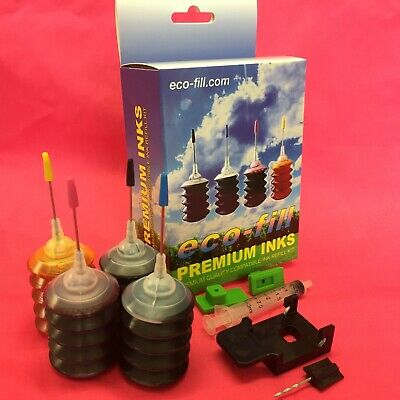 ECOFILL Ink Cartridge REFILL KIT For HP ENVY PHOTO 6200 6220 6230 6232 6234 303 • 11.99£