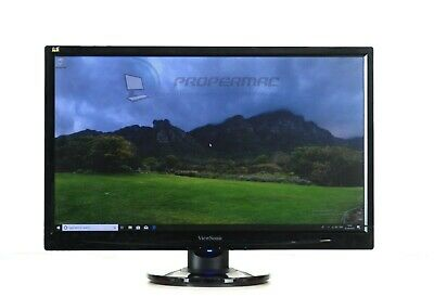 BLACK SCREEN MONITOR TFT 22   FOR PC HOME OFFICE DVI Or VGA Connection, No HDMI • 38.99£