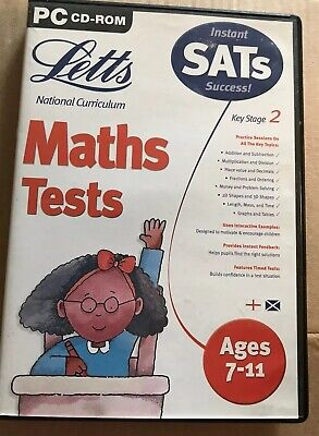 Letts SATS Maths Tests Ages 7-11 PC CD-ROM Education • 2£