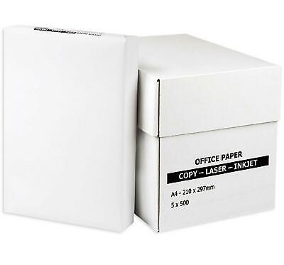Multipurpose White Paper A4 80gsm Office Printer 50-2500 Sheets 1-5 Ream Box Lot • 4.79£