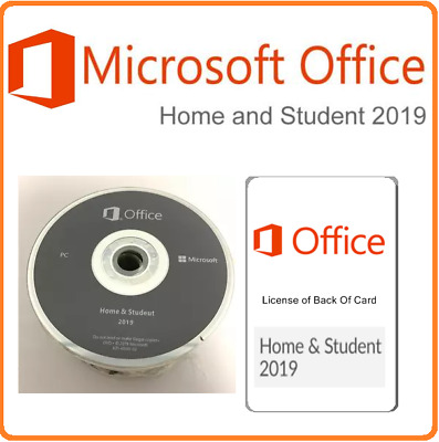 Microsoft Office Home & Student 2019 English ( DVD And Card ) 1 PC Windows 10  • 35£
