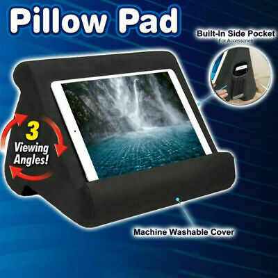 Tablet Stand Pillow Book Reader Holder Rest Lap Reading Cushion For IPad Phone • 11.99£