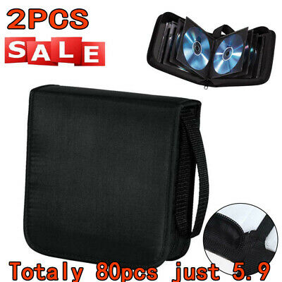 2X 40PCS CD DVD Carry Case Disc Storage Holder CD Sleeve Wallet Ideal For In Car • 5.90£