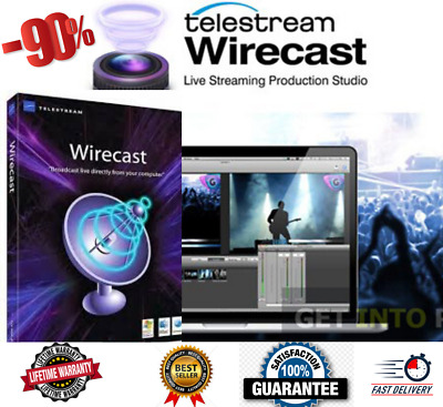 🔥 New Telestream Wirecast Pro 13 For Windows Lifetime✅ Activated✅ Fast Delivery • 3.75£