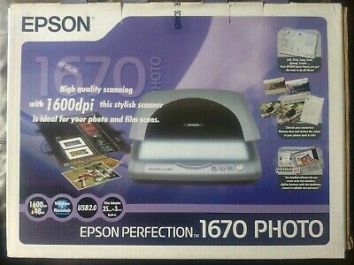 Epson Perfection 1670 PHOTO Scanner - With Kit For Scanning Slides And Negatives • 44.65£