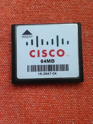 Cisco CF 64MB Memory Card CompactFlash - 16-2647-04 • 3.99£