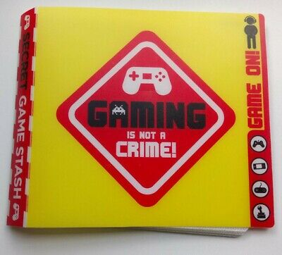 Gaming Is Not A Crime - Game, CD, Disk Holder / Protector • 4.99£