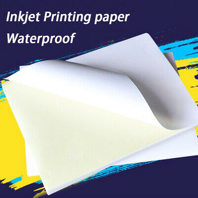 20Pcs Clear Sticker Paper Inkjet Printer Label Sheet Waterproof Quick-drying UK • 6.64£