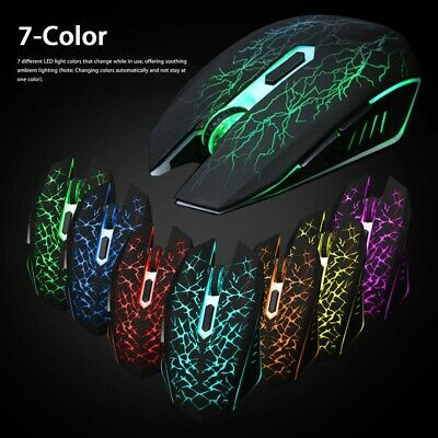 Backlit Rechargeable USB Wireless Optical Silent Gaming Mouse Mice For Laptop PC • 9.39£