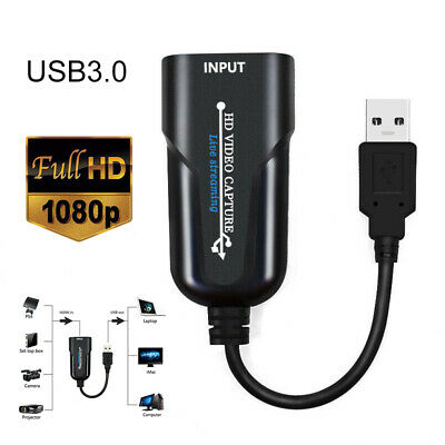 1080P HDMI To USB 2.0 HD Video Capture Card Video Streaming Adapter For TV Game • 10.49£