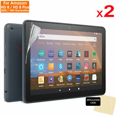 2x CLEAR Screen Protector Covers For Amazon Fire HD 8 / HD 8 Plus 2020 /10th Gen • 2.79£