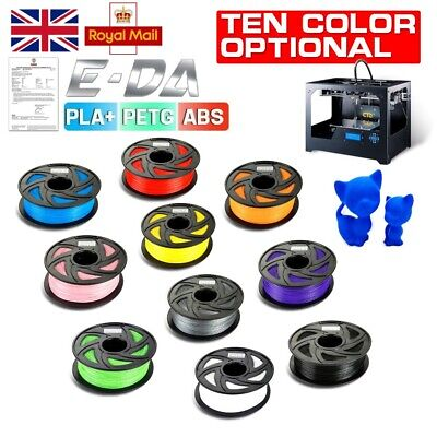 Genuine E-DA 3D Printing  Filament Printer PLA+ ABS PETG TPU 1.75mm 1KG W/ Spool • 21.75£