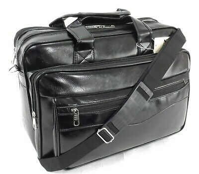 Executive Laptop Bag Messenger Briefcase Business Office Work Bag Travel Case BK • 24.99£
