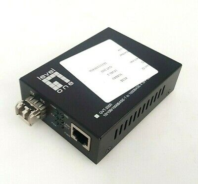 Levelone Fibre To Copper Media Converter - GVT-2000 • 19.99£