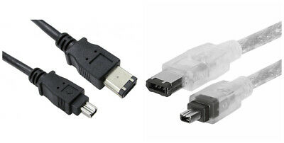 Firewire IEEE-1394 DV Cable 4 To 6 Pin - DV Out To PC Laptop I-Link Camcorder • 1.99£